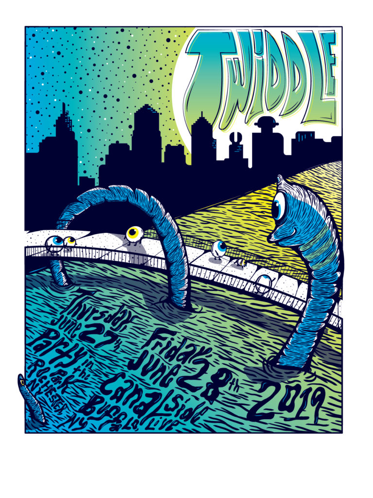 "Dual Show Print | Party in the Park - Canalside Live | Rochester, NY - Buffalo, NY | 18""x24"" LE 125 